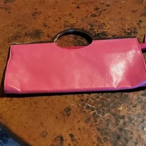 Candies Pink Clutch with Silver Handles